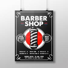 barber flyer barbershop flyer vector premium download
