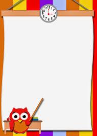 free printable borders teachers fashionable moms free printable teacher owl card free