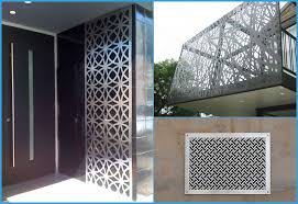 metal screen decorative wall panel laser cutting service from