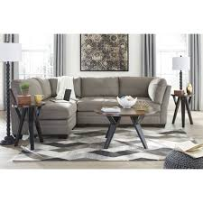Ashley Furniture Iago Sectional in Cobblestone
