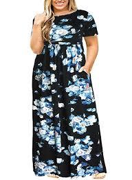 Nemidor <b>Women Short Sleeve Loose</b> Plain Casual Plus Size Long ...