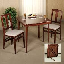 Wooden Folding Card Table And Chairs Set