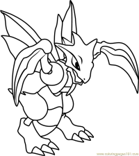 Pokemon Scyther Coloring Pages Coloring Pages