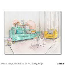 Interior Design Postcards Interior Design Pastel Room Art Print Postcard Foster