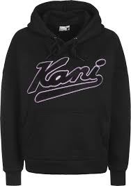 Capuche College Noir W Sweat Karl Kani À