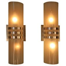long wall sconce lighting. Simple Designing Art Deco Wall Sconce Double Lighting Tall Long Circle Shape Lamp Yellow Color Best