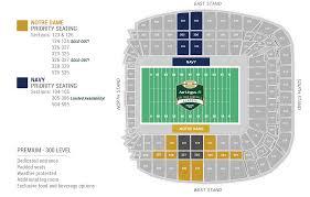 University Of Notre Dame Football Stadium Seating Chart Aviva Stadium Seating Map 2020 Official Notre Dame Ireland