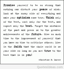 Promise Yourself To Be So Strong Quote Best of Good Wisdom Quote By Christian D Larson Promise Yourself To Be So