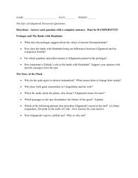 gilgamesh essay assignment nov doc  date period the epic of gilgamesh
