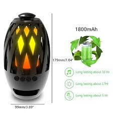 fosa led flame lamp bluetooth speaker touch led night light wireless bluetooth speaker outdoor portable stereo speaker with hd audio enhanced bass