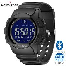 NORTH EDGE Pedometer Calories Bluetooth <b>Men Sports</b> Watches ...