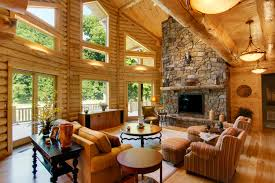 Log Home Interiors Beautiful Home Design Ideas Talkwithmikeus - Log home pictures interior