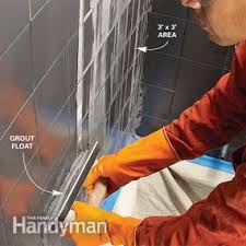 Grouting wall tile Diy Apply Grout To The Wall The Family Handyman Our Best Grouting Tips The Family Handyman