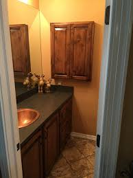 Knotty Alder Wood Cabinets Custom Bathroom Vanity And Matching Medicine Cabinet Wood Knotty