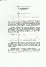memorandum circular no s doe department of energy  resources