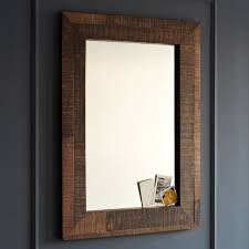 wood wall mirrors. Modren Wall Cool Wooden Bathroom Mirror With Reclaimed Wood  Wall West To Mirrors E