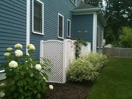 ... Divine Garden Decoration With Lattice Screen Design : Charming Outdoor  Living Space Decoration Wit White Lattice ...