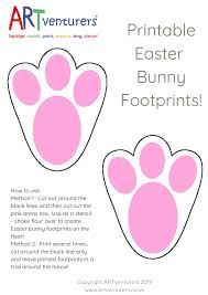 Easter Template Easter Bunny Footprint Stencil Template