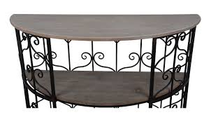 round console table. Beeney Half Round Console Table H