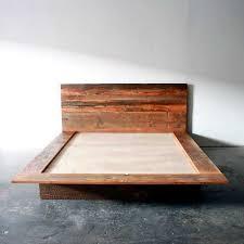 reclaimed wood bed frame. Reclaimed Wood Platform Bed Barn Frame Modern Lodge Scheme Of Rustic