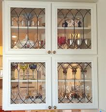 cabinet doors inserts beveled stained glass etched door ideas