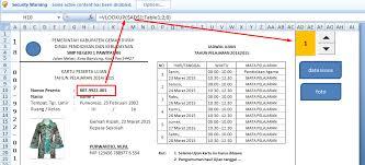 Aplikasi pembuatan kartu peserta ujian excel. Aplikasi Kartu Peserta Tes Ujian Format Excel Deuniv