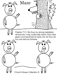 Small Picture Three Little Pigs Coloring Pages House Of Sticks Apigramcom