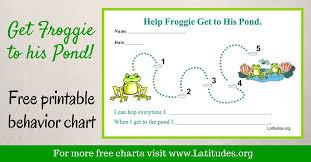 Free Single Behavior Chart Frog To Pond Acn Latitudes