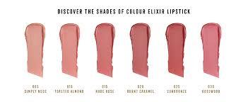 Max Factor Pan Stick Colour Chart Max Factor Colour Elixir Lipstick With Vitamin E Shade Toasted Almond 010