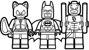 Small Picture Lego Batman and Lego Catwoman Lego Daredevil Coloring Book