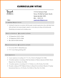 short simple resume examples 5 simple cv example new looks wellness
