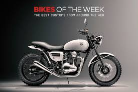 custom bikes of the week 18 february 2018 the best cafe racers scramblers