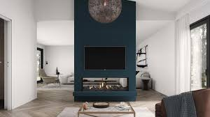 double sided fireplace as a room divider