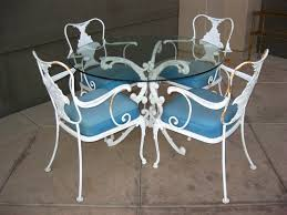 white iron outdoor furniture. Wrought Iron Wicker Outdoor Furniture White. White Patio For Comfort Seating: Vintage .