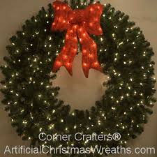cool outdoor lighted wreath at chic idea cordless chritsmas decor