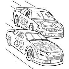 Small Picture Two Nascar Racing Car Precede Each Other Coloring Page Rogers