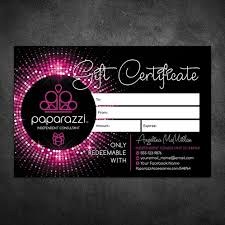 Paparazzi Gift Card Paparazzi Gift Certificate Card 4x6 1
