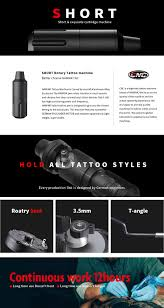 Cnc Faulhaber Motor Short Pen Hybrid Tattoo Pen Rotary Tattoo Machine 2019 New Style Cnc M Q2