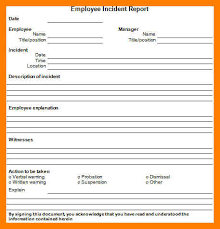 6+ Free Incident Report Template | 952 Limos