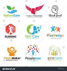 School Logo Maker Logo Collection Set People Idea Kids Stock Vector Royalty Free
