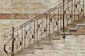 Modern Handrail modern vintage style straight stone staircase with black wrought 6898 by guidejewelry.us