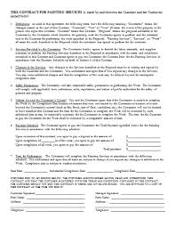 Painting Contracts Templates Free Painting Contract Template Corkcrm