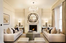 crystal chandelier living room