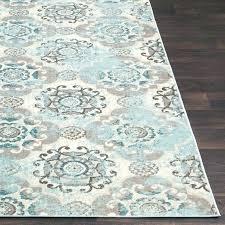 bright blue area rug candelaria abstract navy pliseu