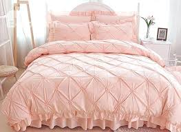 pink duvet cover pinch pleat cotton princess style 4 piece pink duvet covers bedding sets pale