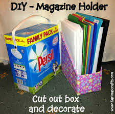 Magazine Holder From Cereal Box Karima's Crafts DIY Magazine Holder Great Ideas 78