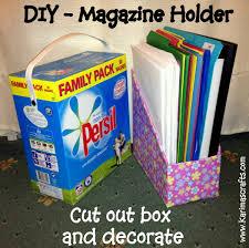 Magazine Holder From Cereal Box Karima's Crafts DIY Magazine Holder Great Ideas 78