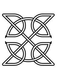 Keltische Knoop In Een Vierkant Kleurplaat Gratis Kleurplaten Printen