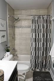 Bathroom   Top The Most Incredible Shower Curtain Ideas Design - Small bathroom with tub
