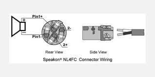 podiumpro audio Speakon NL4FX Wiring Speakon Connector Wiring Diagram #46